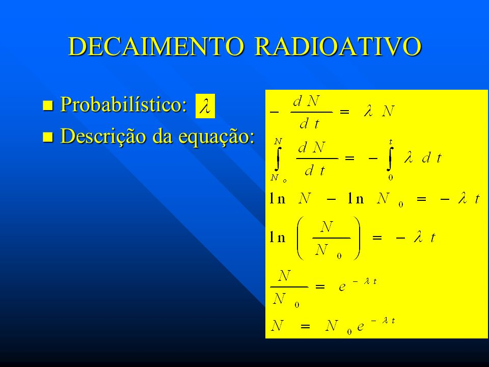 DECAIMENTO RADIOATIVO