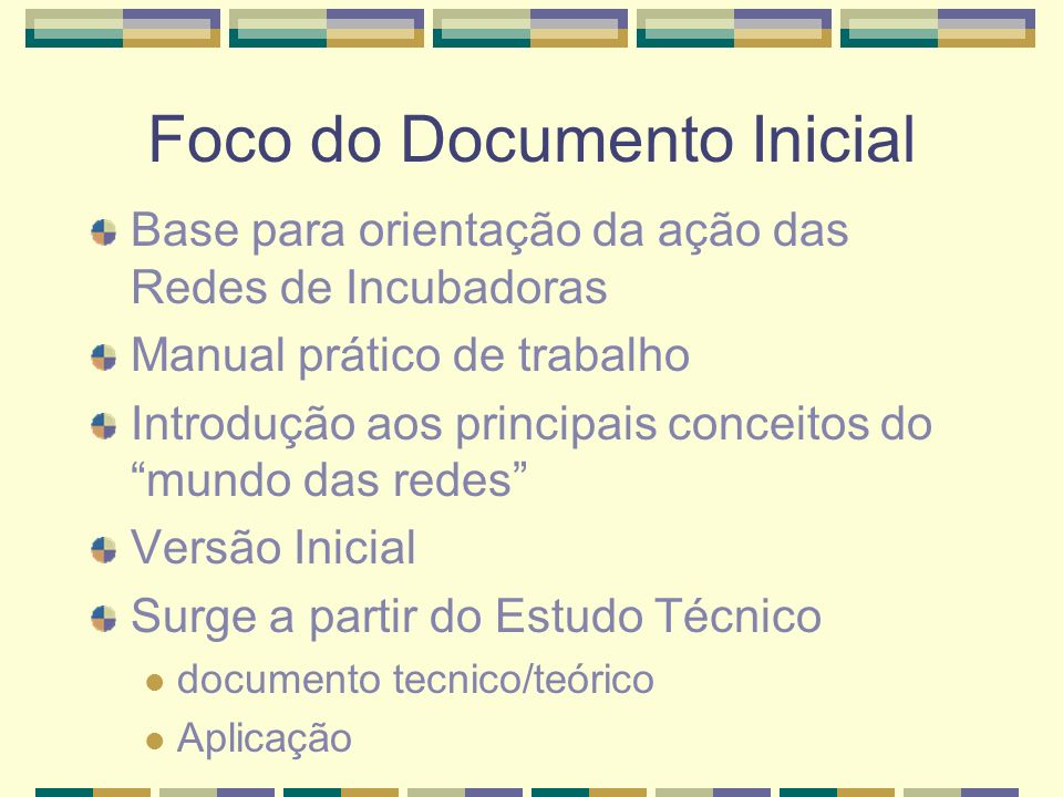 Foco do Documento Inicial