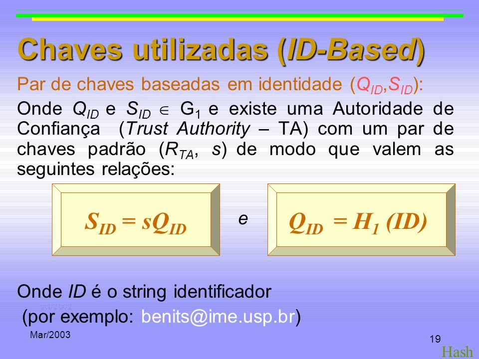 Chaves utilizadas (ID-Based)