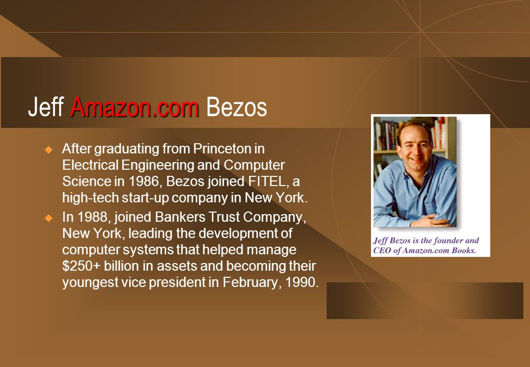 Jeff Amazon.com Bezos