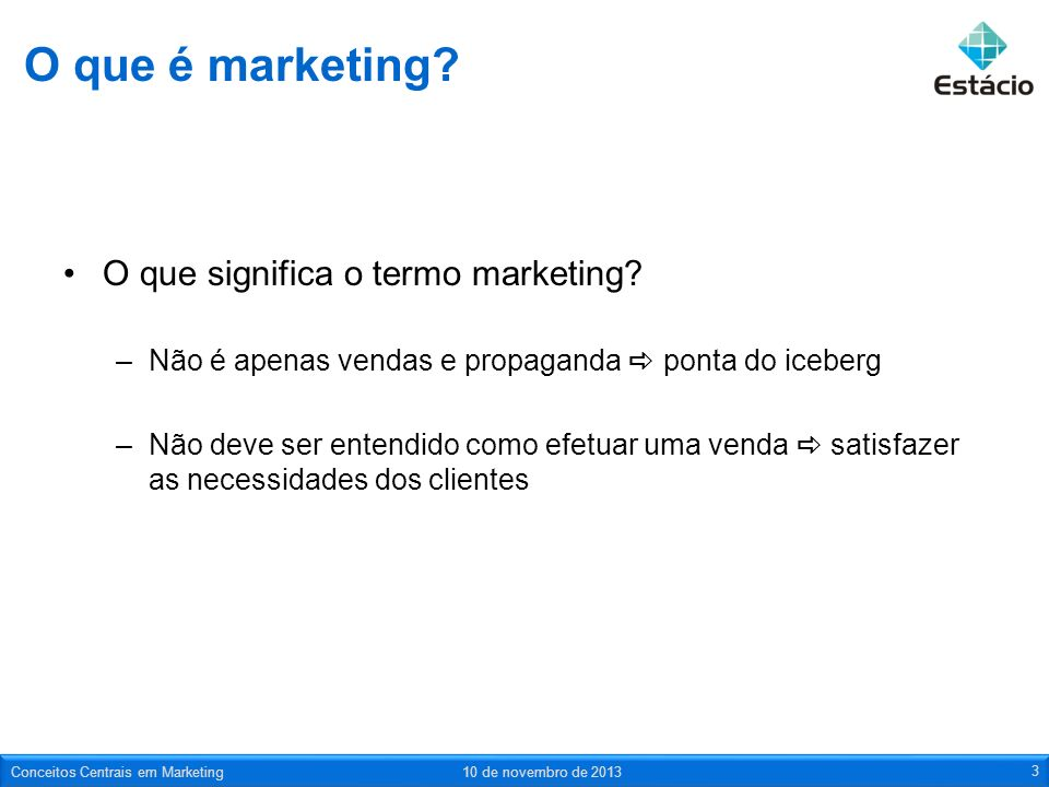 O que é marketing O que significa o termo marketing