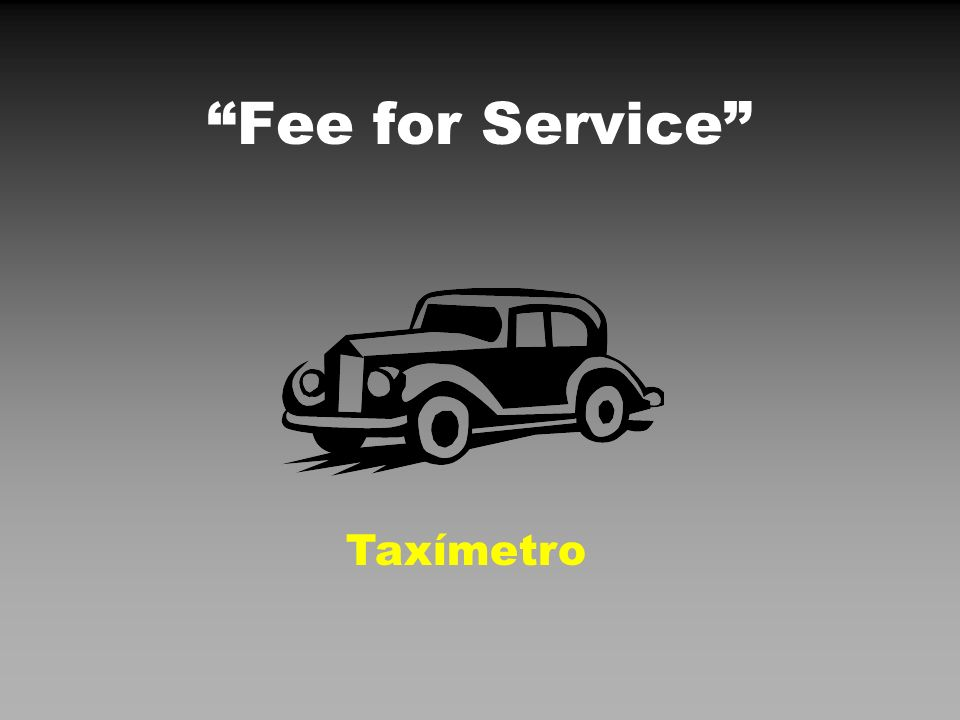 Fee for Service Taxímetro