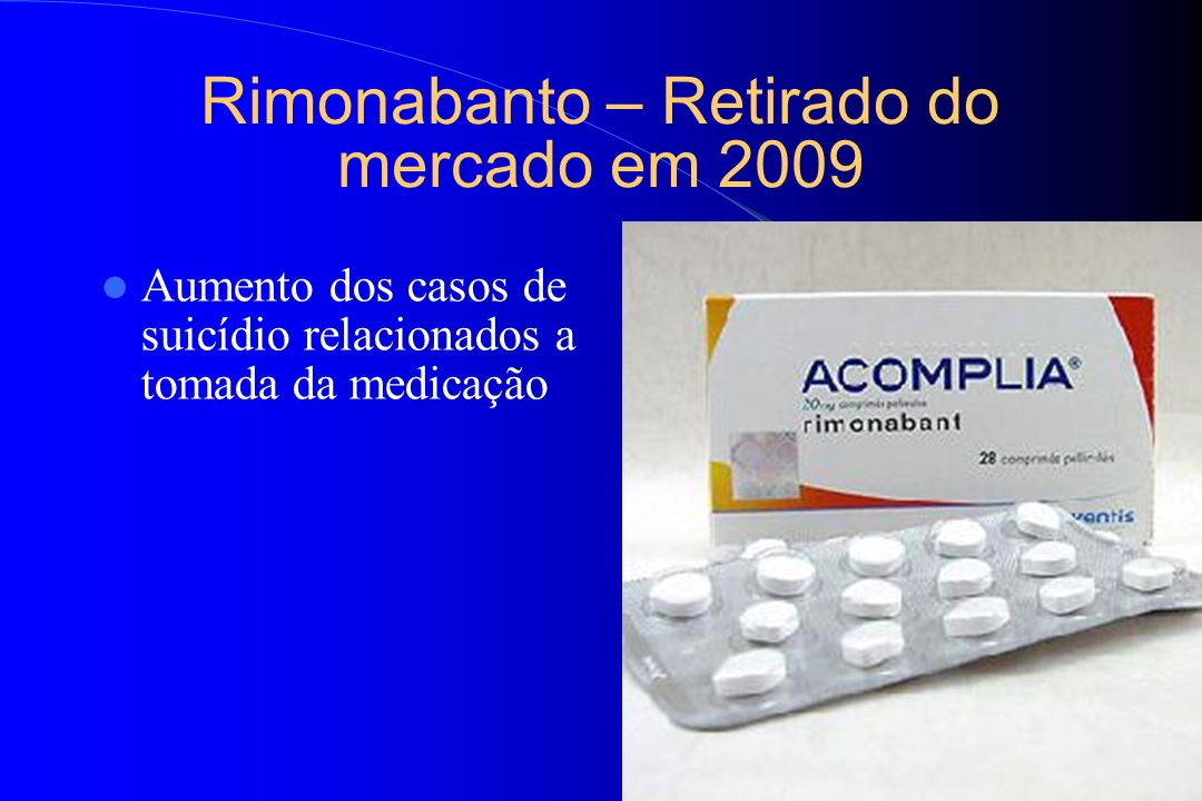 Rimonabanto – Retirado do mercado em 2009