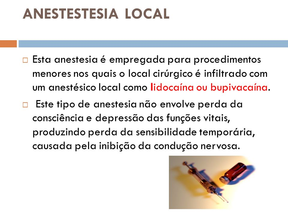 ANESTESTESIA LOCAL