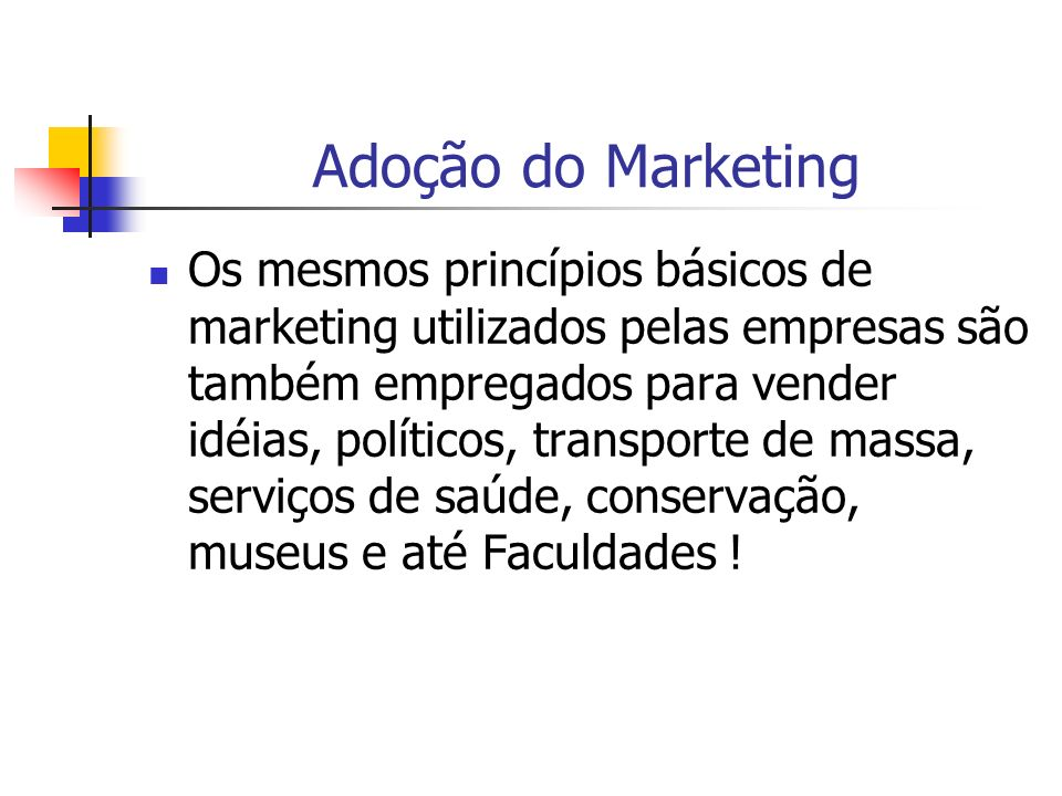 Adoção do Marketing