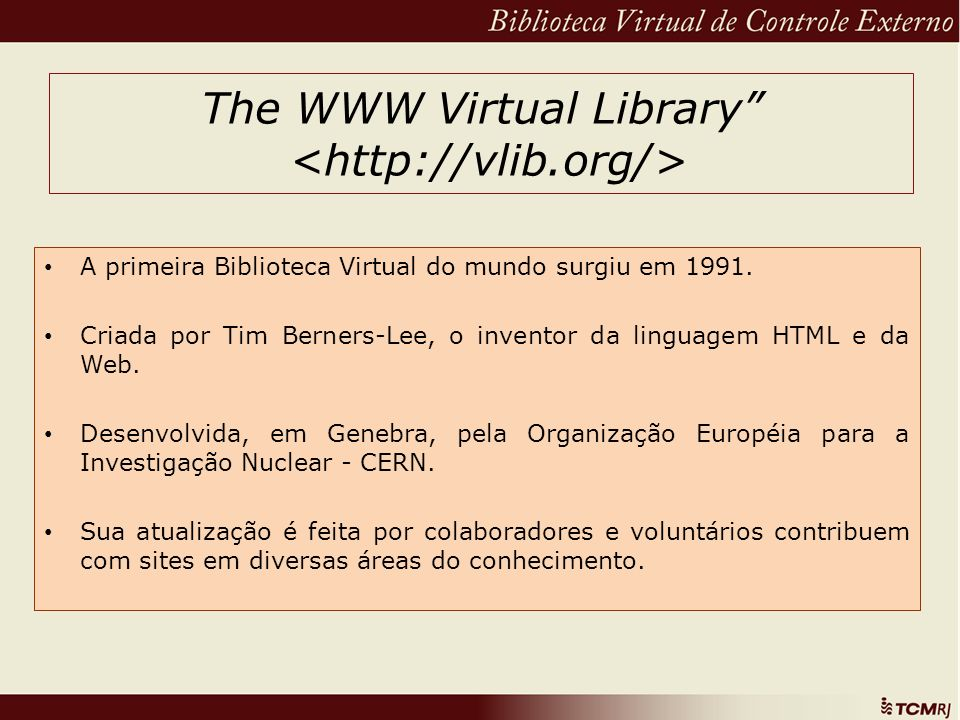 The WWW Virtual Library <