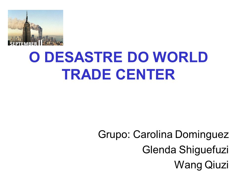 O DESASTRE DO WORLD TRADE CENTER