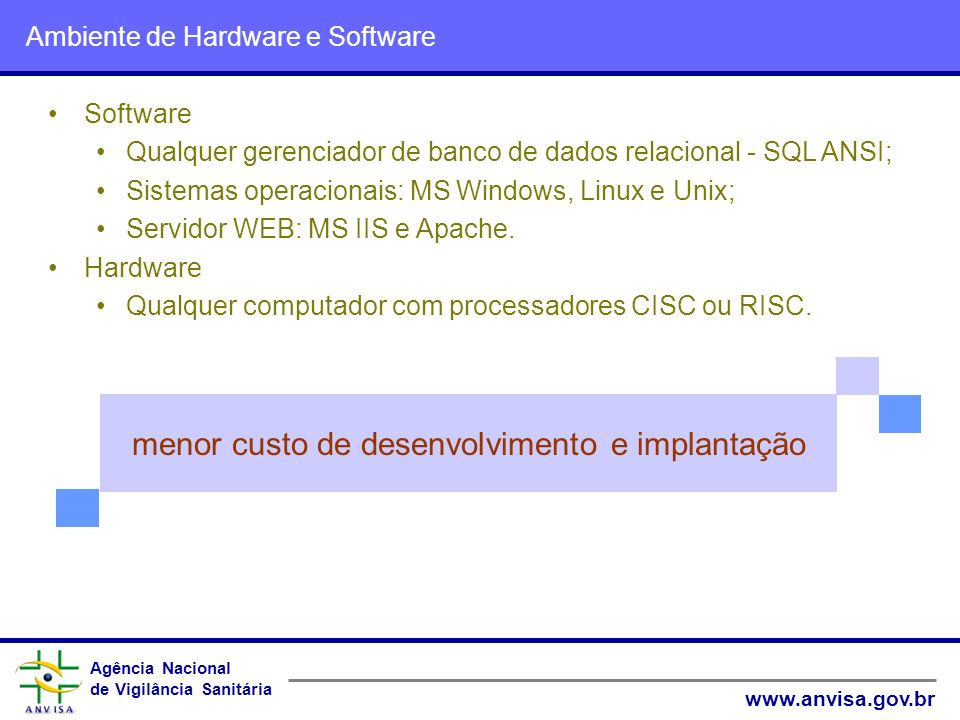 Ambiente de Hardware e Software