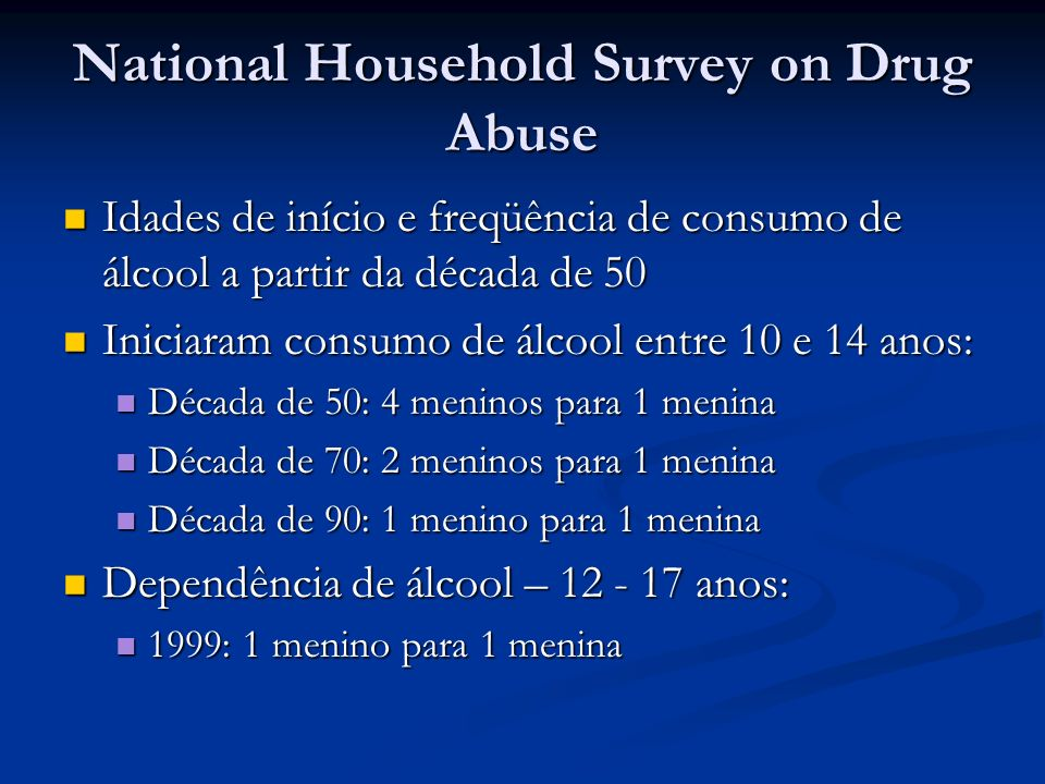 National Household Survey on Drug Abuse