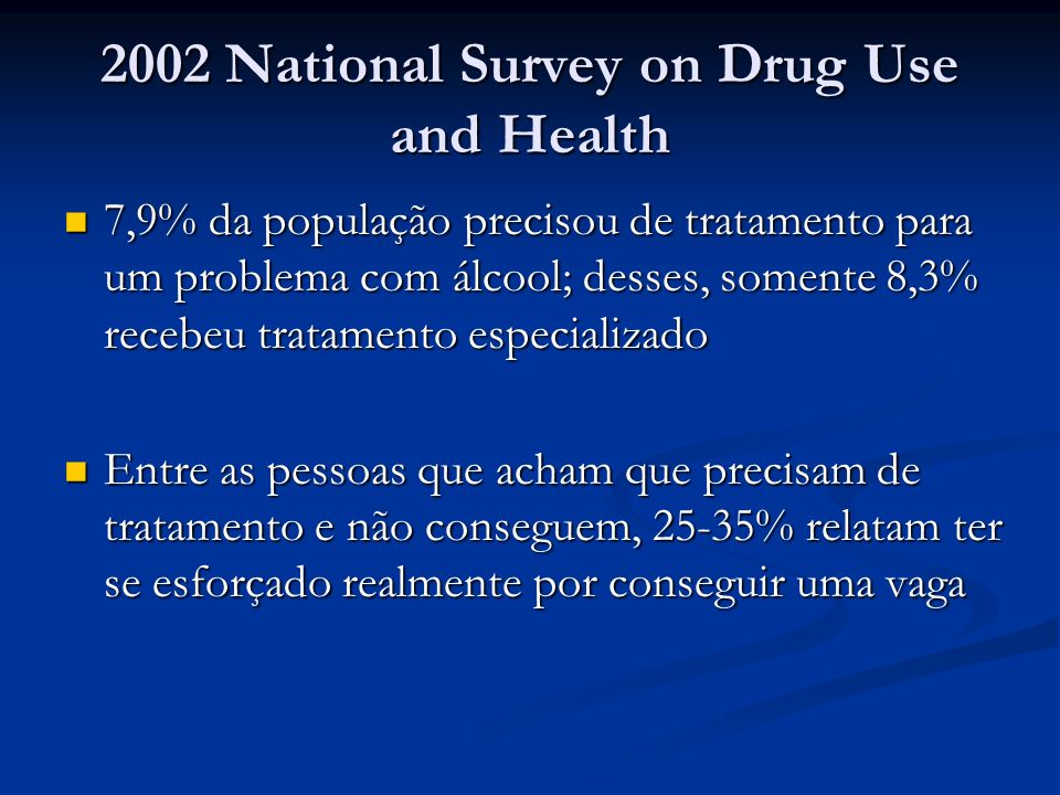 2002 National Survey on Drug Use and Health