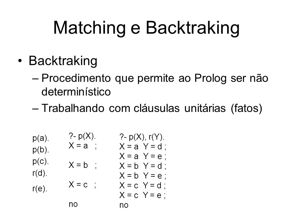 Matching e Backtraking