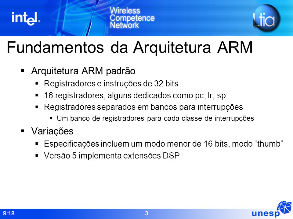Fundamentos da Arquitetura ARM