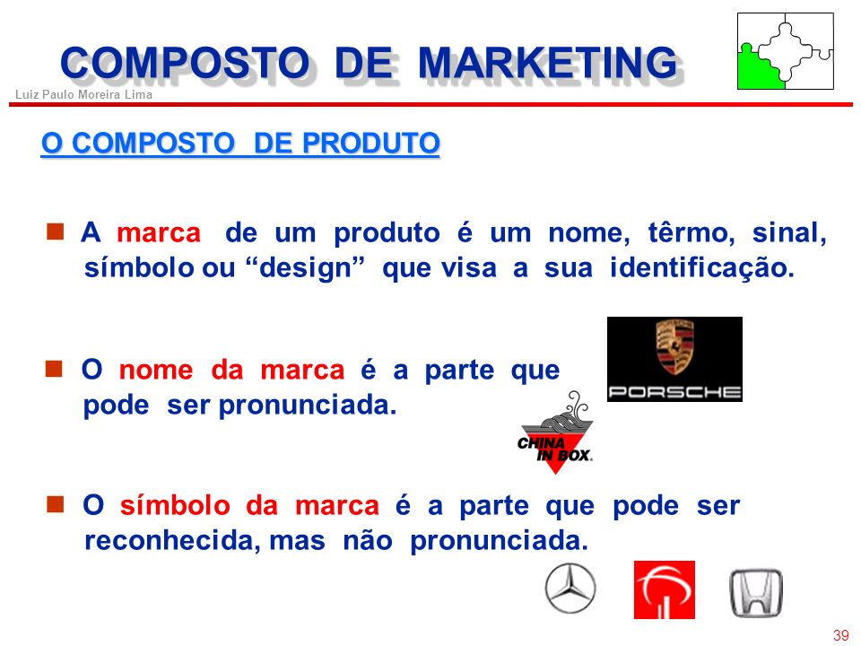 COMPOSTO DE MARKETING O COMPOSTO DE PRODUTO