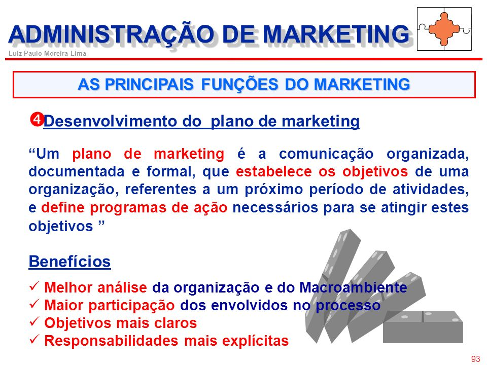 ADMINISTRAÇÃO DE MARKETING AS PRINCIPAIS FUNÇÕES DO MARKETING