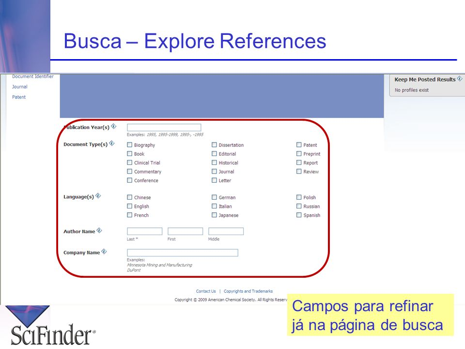 Busca – Explore References