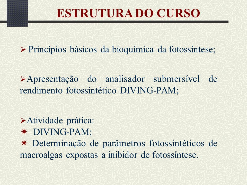 ESTRUTURA DO CURSO  DIVING-PAM;