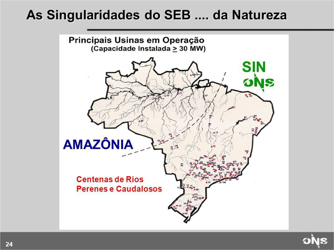 SIN As Singularidades do SEB .... da Natureza AMAZÔNIA