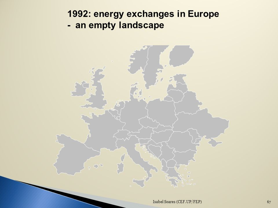 1992: energy exchanges in Europe - an empty landscape