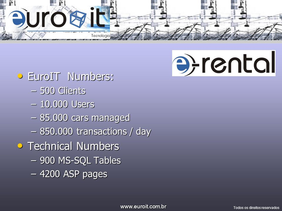 EuroIT Numbers: Technical Numbers 500 Clients Users