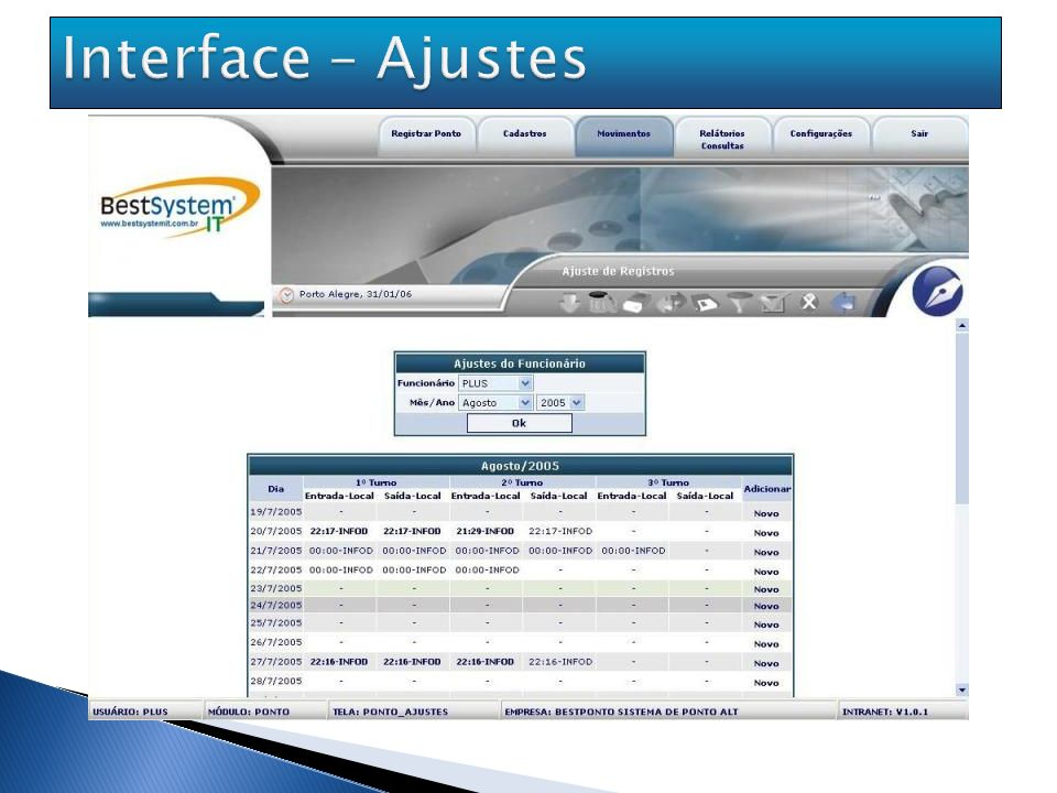Interface – Ajustes