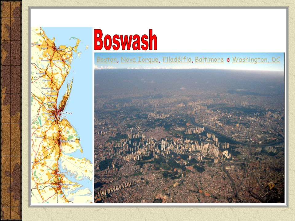 Boswash Boston, Nova Iorque, Filadélfia, Baltimore e Washington, DC