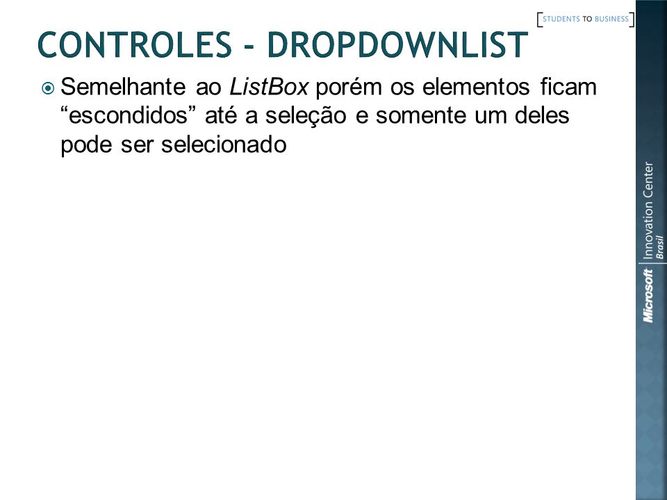 Controles - DropDownList