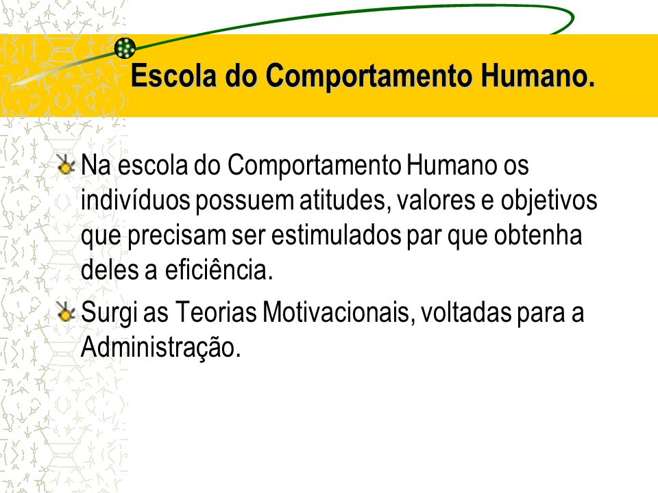 Escola do Comportamento Humano.