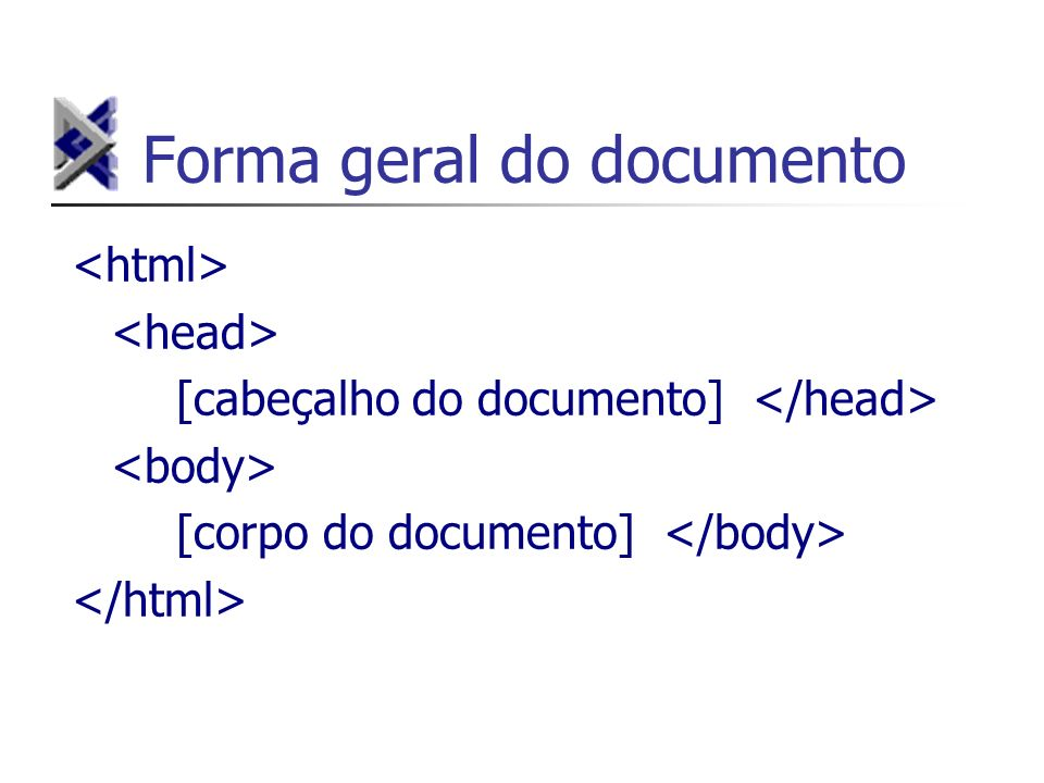 Forma geral do documento