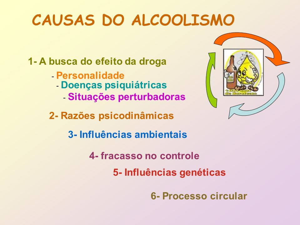 CAUSAS DO ALCOOLISMO 1- A busca do efeito da droga
