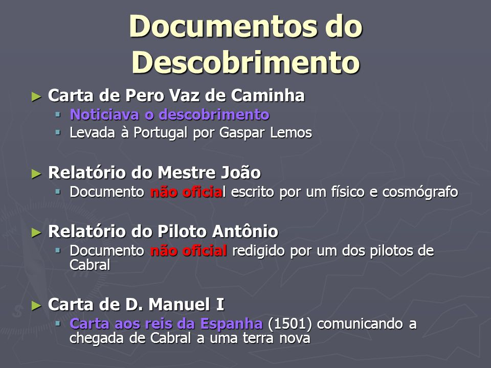 Documentos do Descobrimento