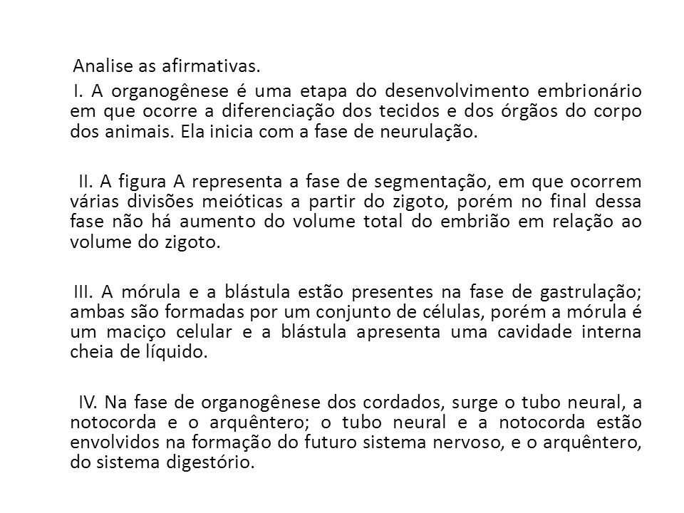 Analise as afirmativas. I