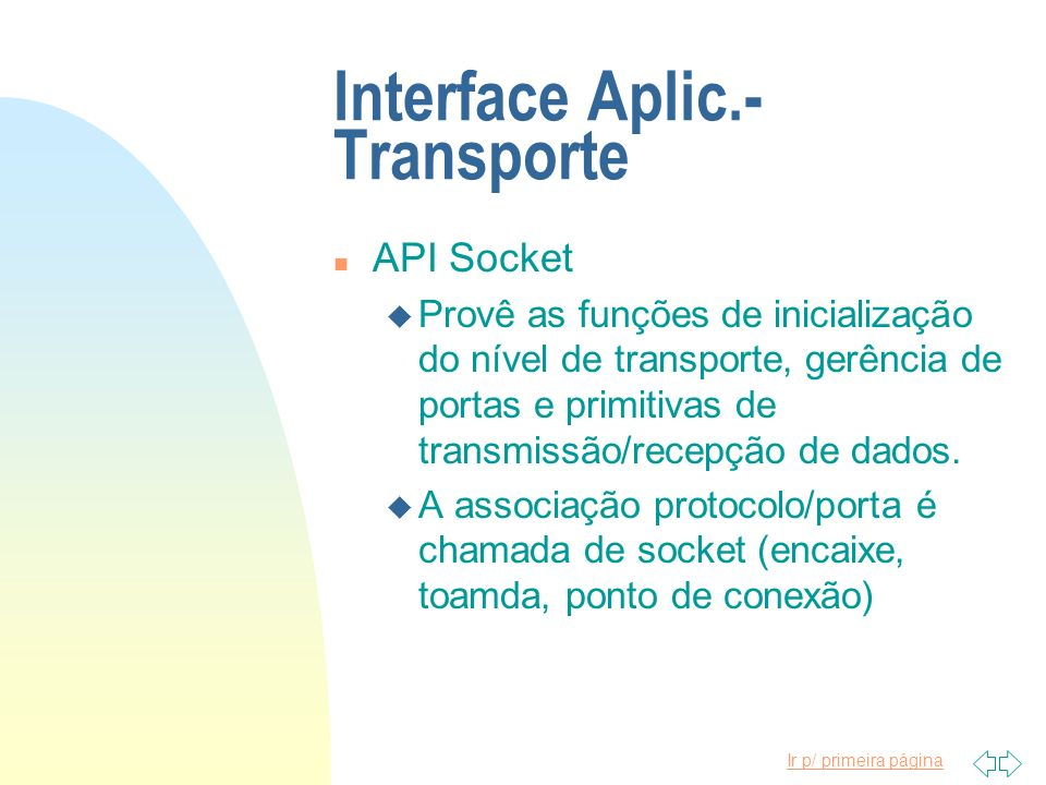 Interface Aplic.-Transporte