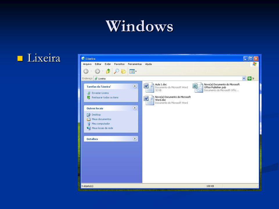 Windows Lixeira