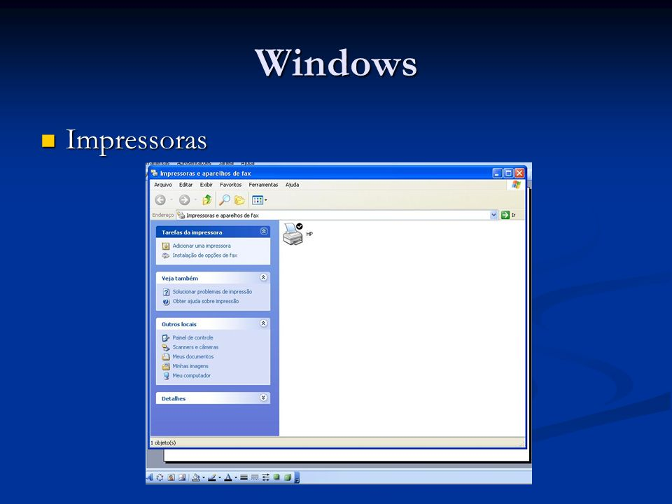 Windows Impressoras