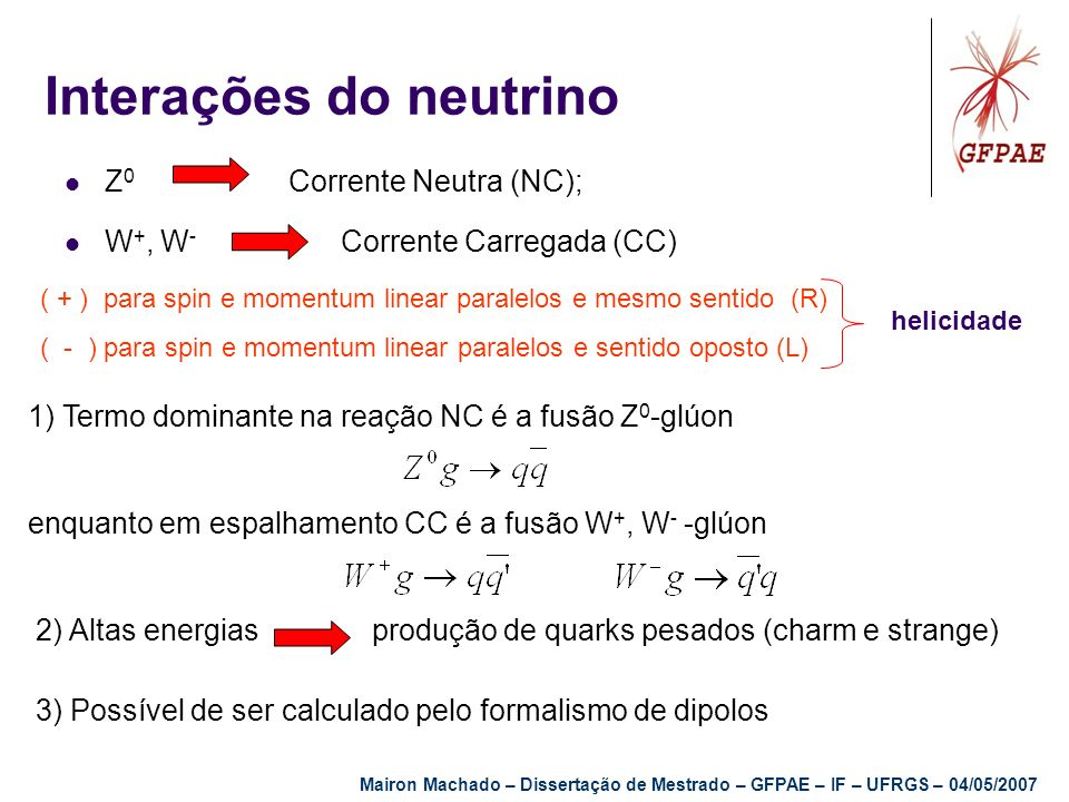 Interações do neutrino