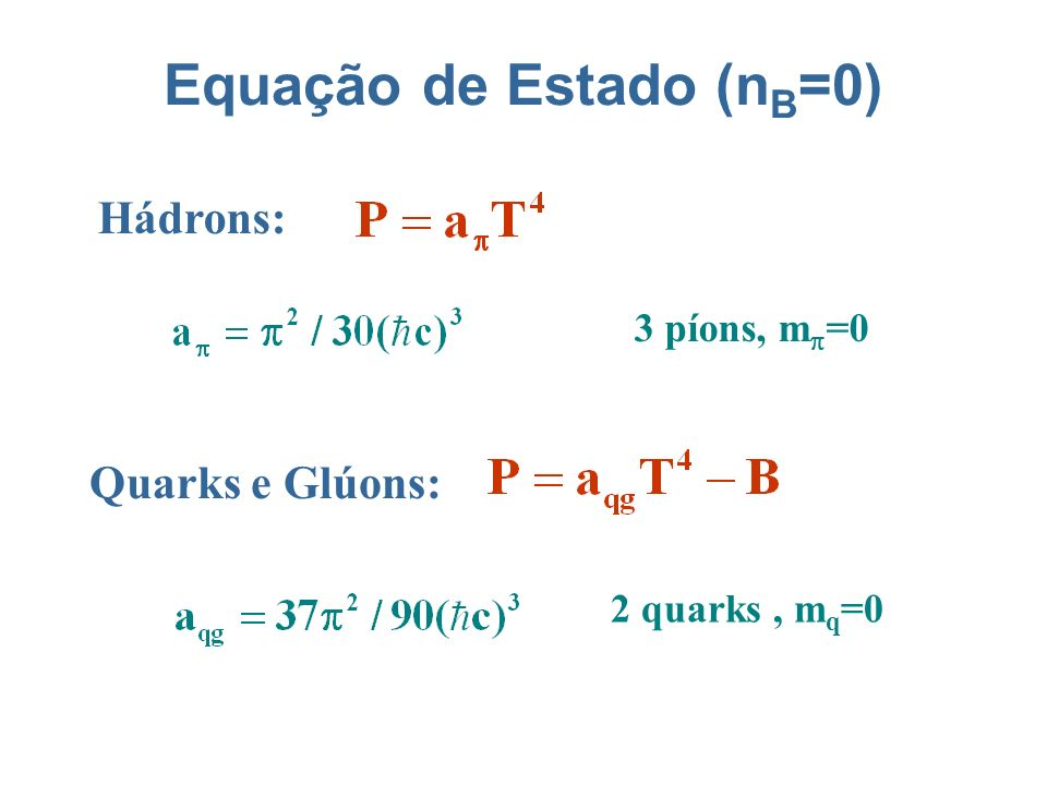 Equação de Estado (nB=0)
