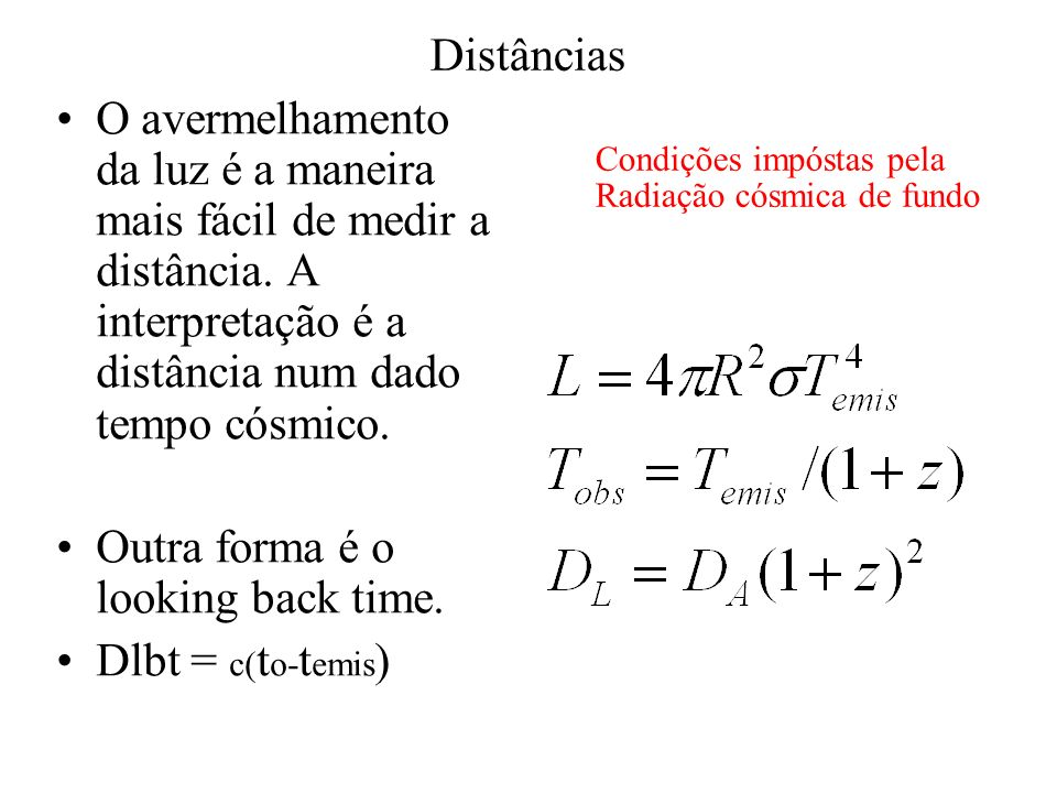 Outra forma é o looking back time. Dlbt = c(to-temis)