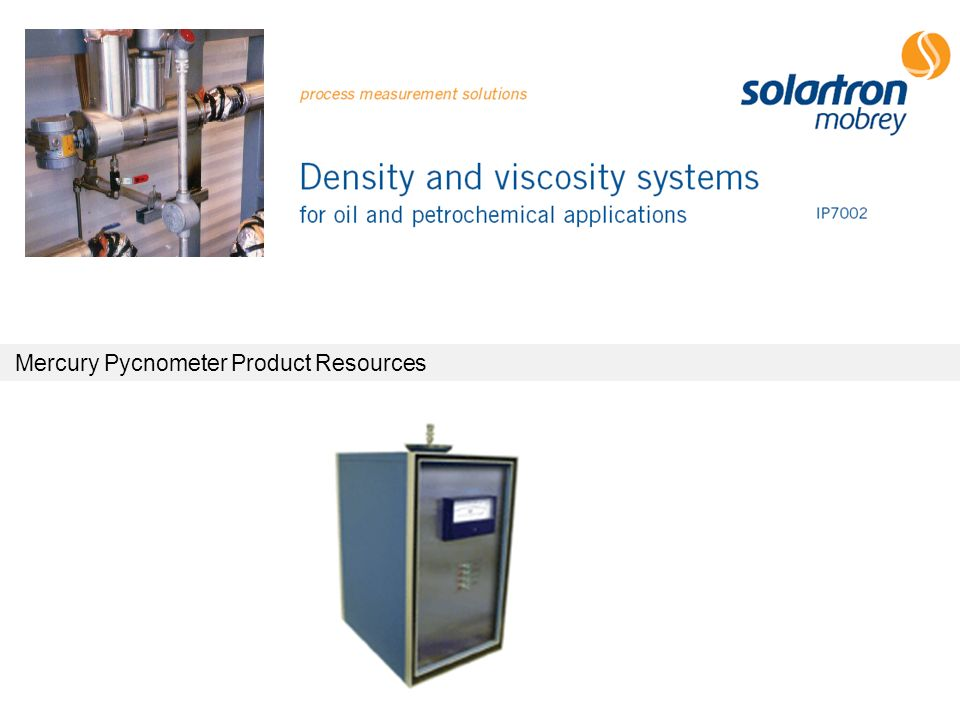 Mercury Pycnometer Product Resources