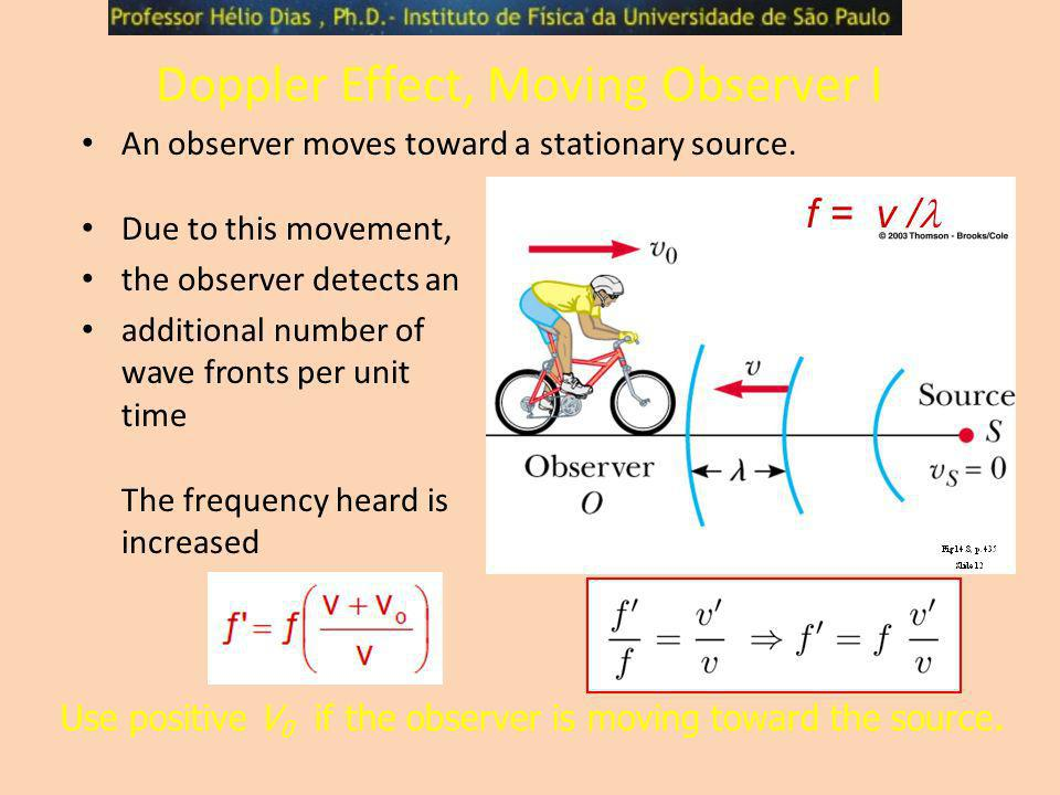 Doppler Effect, Moving Observer I