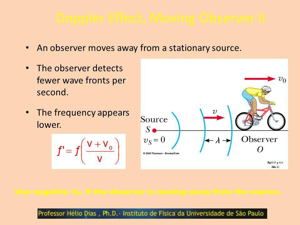 Doppler Effect, Moving Observer II