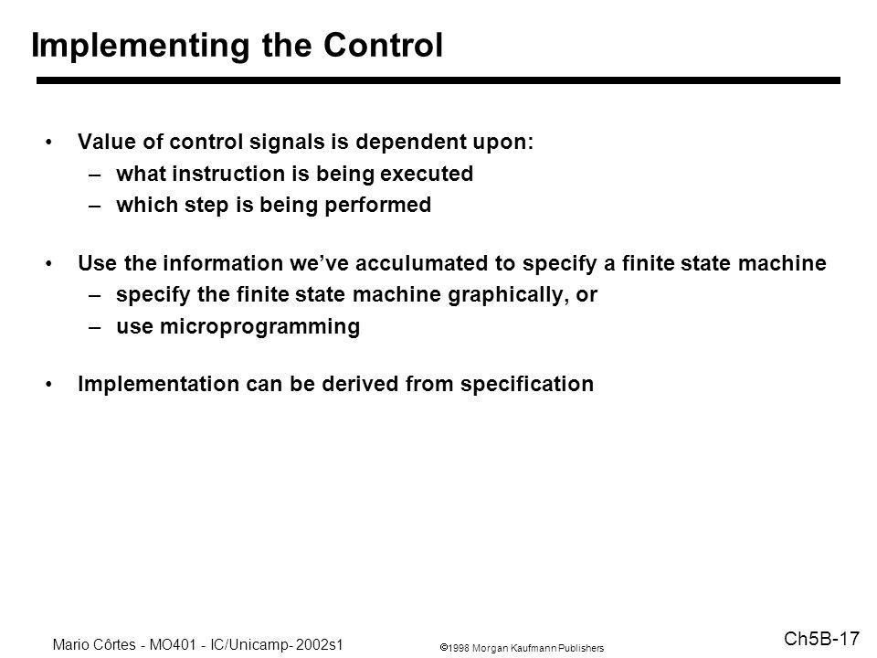 Implementing the Control
