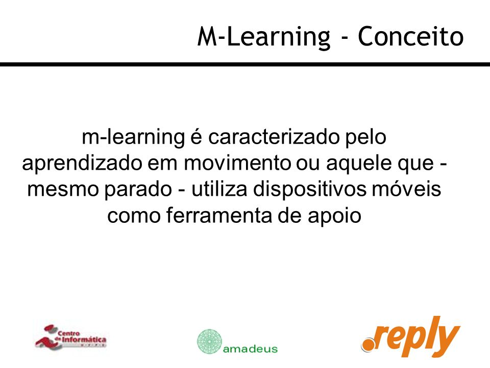 M-Learning - Conceito