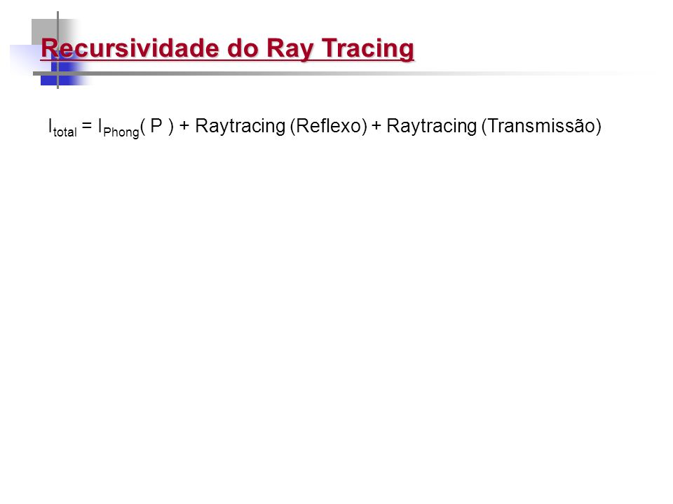 Recursividade do Ray Tracing