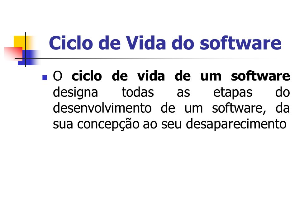 Ciclo de Vida do software
