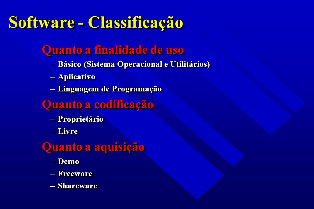 Software - Classificação