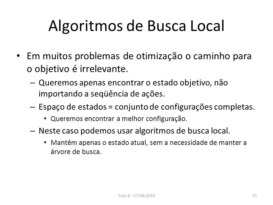 Algoritmos de Busca Local