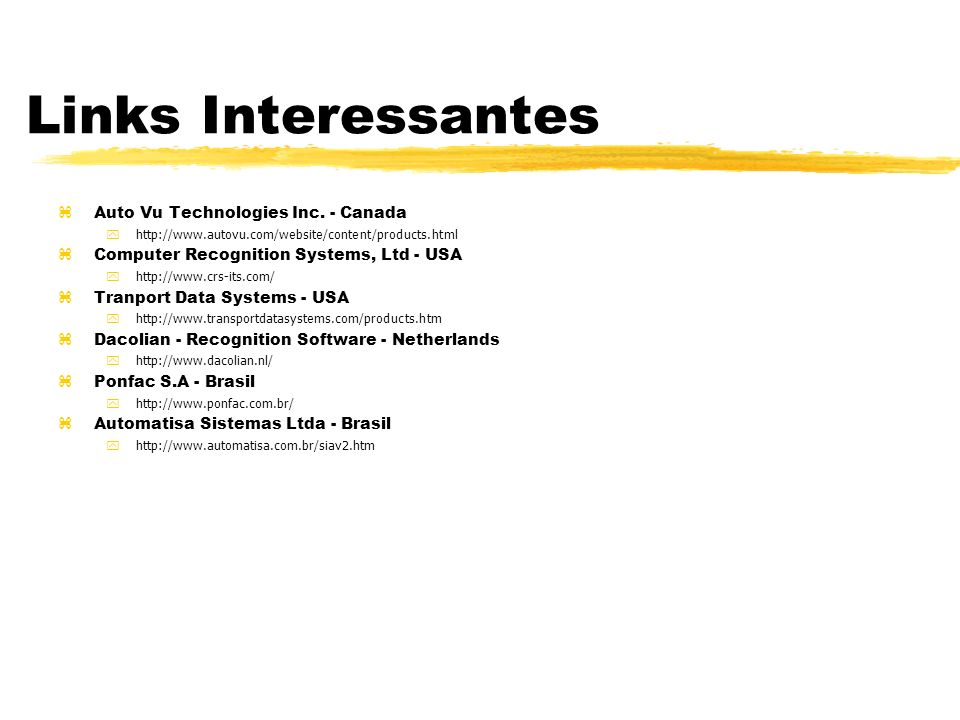 Links Interessantes Auto Vu Technologies Inc. - Canada