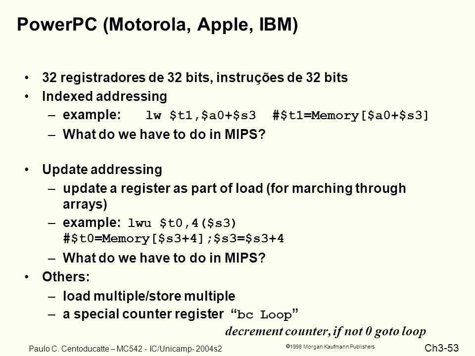 PowerPC (Motorola, Apple, IBM)