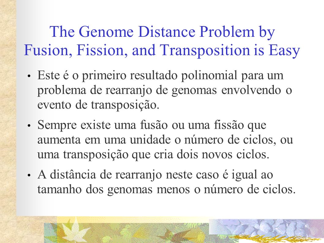 The Genome Distance Problem by Fusion, Fission, and Transposition is Easy