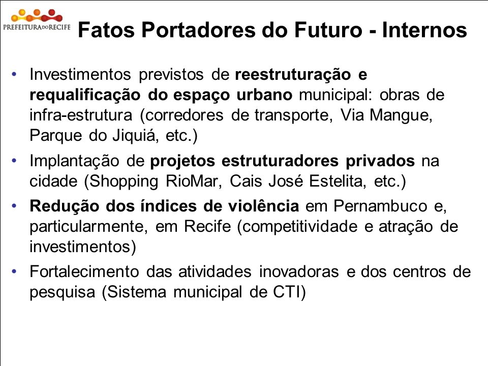 Fatos Portadores do Futuro - Internos